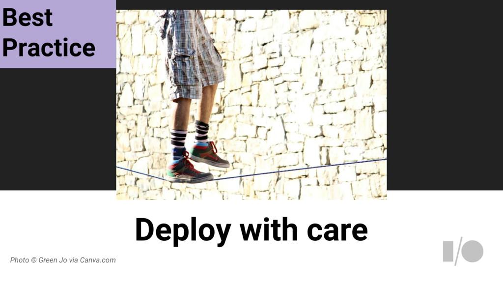 Deploy with care Photo © Green Jo via Canva.com...