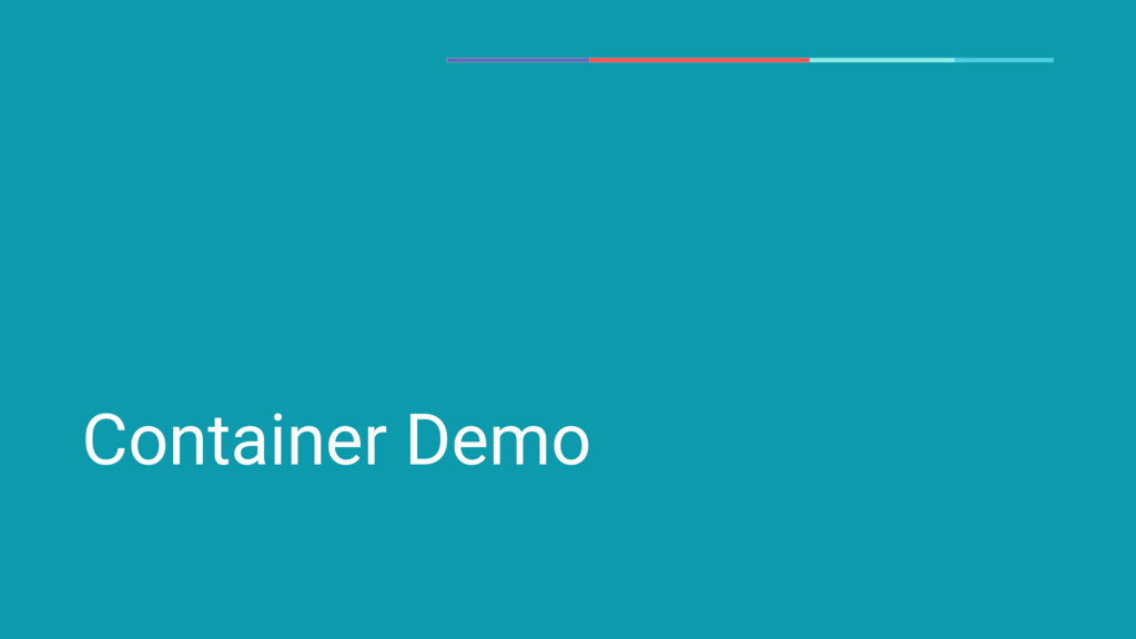 Container Demo