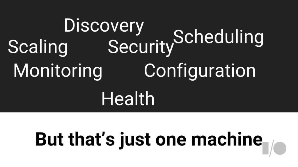 But that's just one machine Discovery Scaling S...