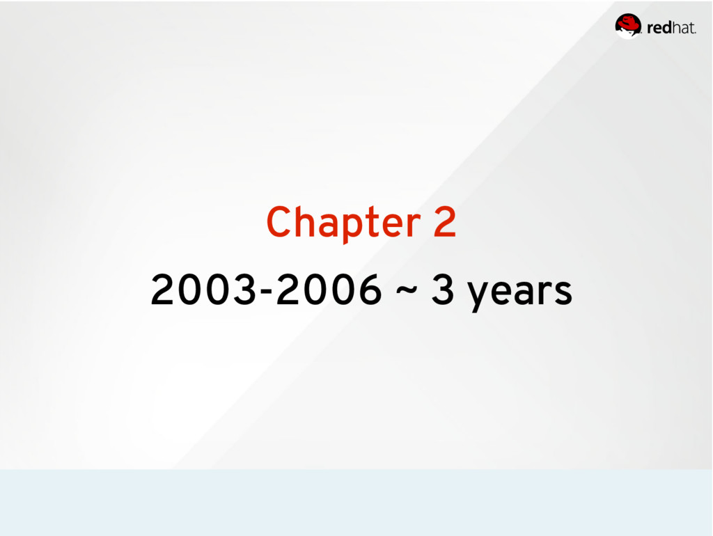 Chapter 2 2003-2006 ~ 3 years