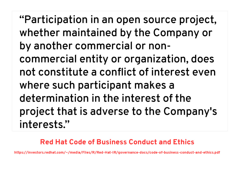 """""""Participation in an open source project, wheth..."""