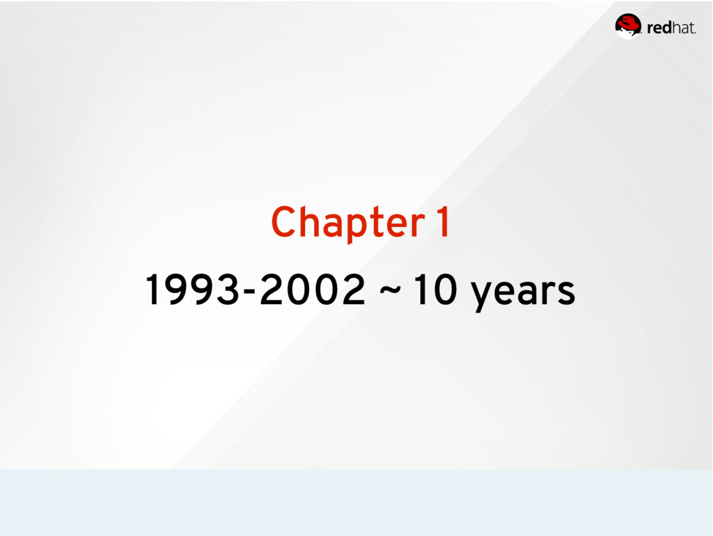Chapter 1 1993-2002 ~ 10 years