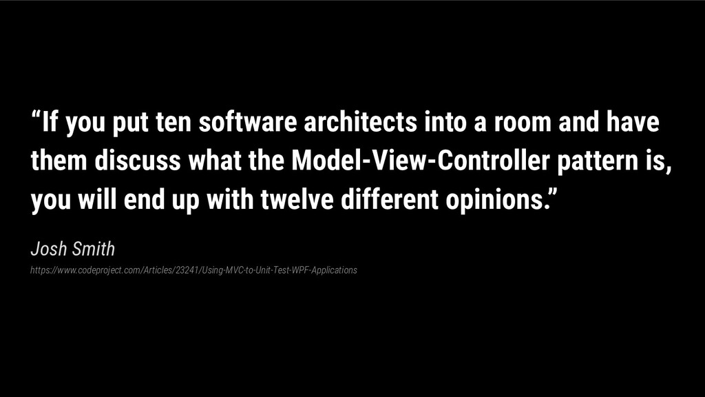 """""""If you put ten software architects into a room..."""