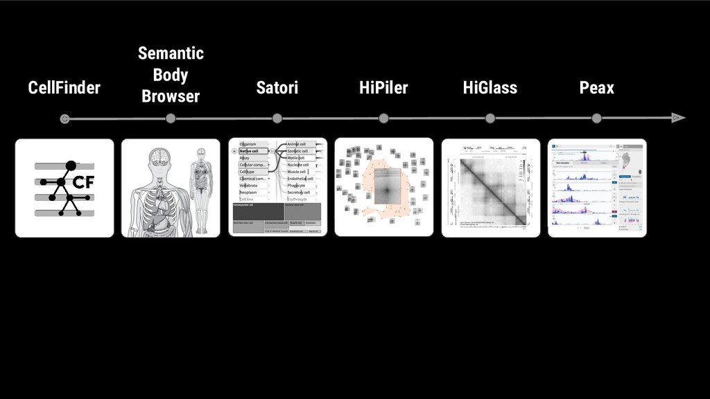 CellFinder Semantic Body Browser Satori HiPiler...