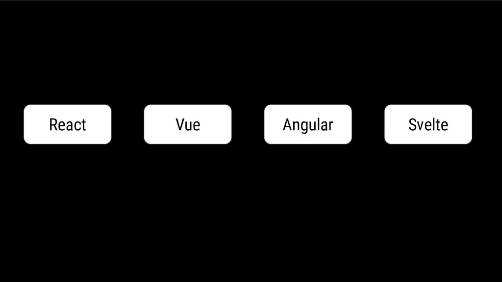 React Vue Angular Svelte