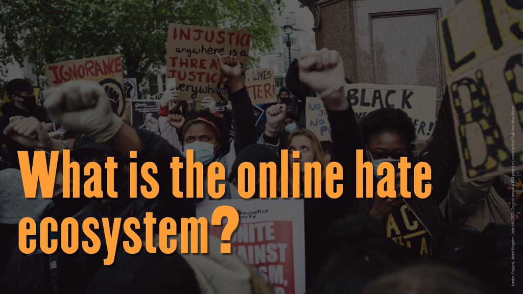 What is the online hate ecosystem? London, Engl...