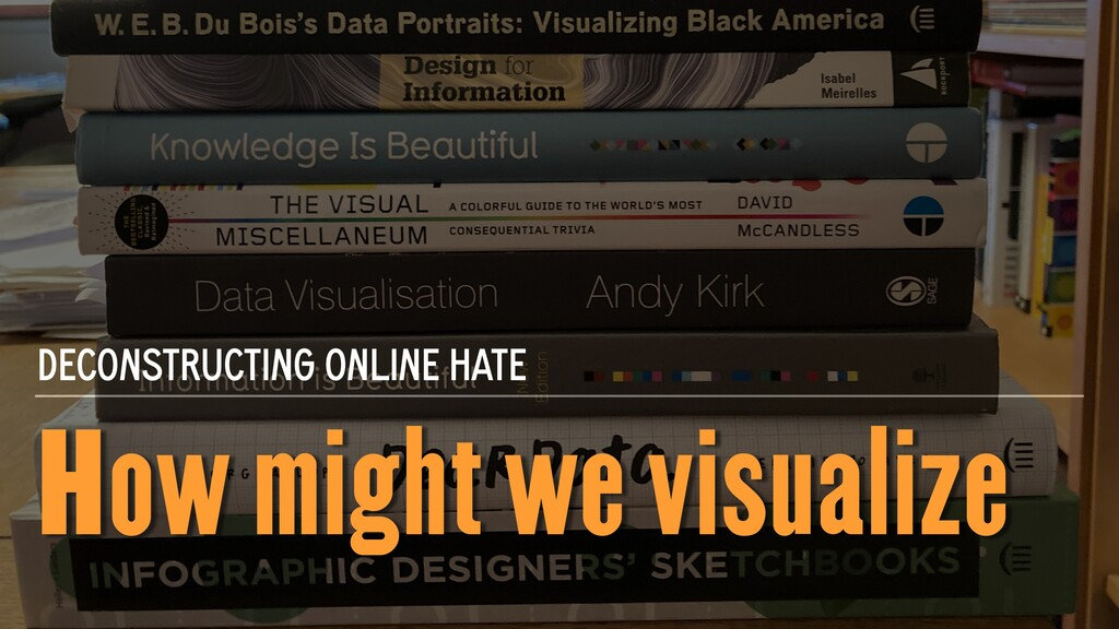 How might we visualize DECONSTRUCTING ONLINE HA...