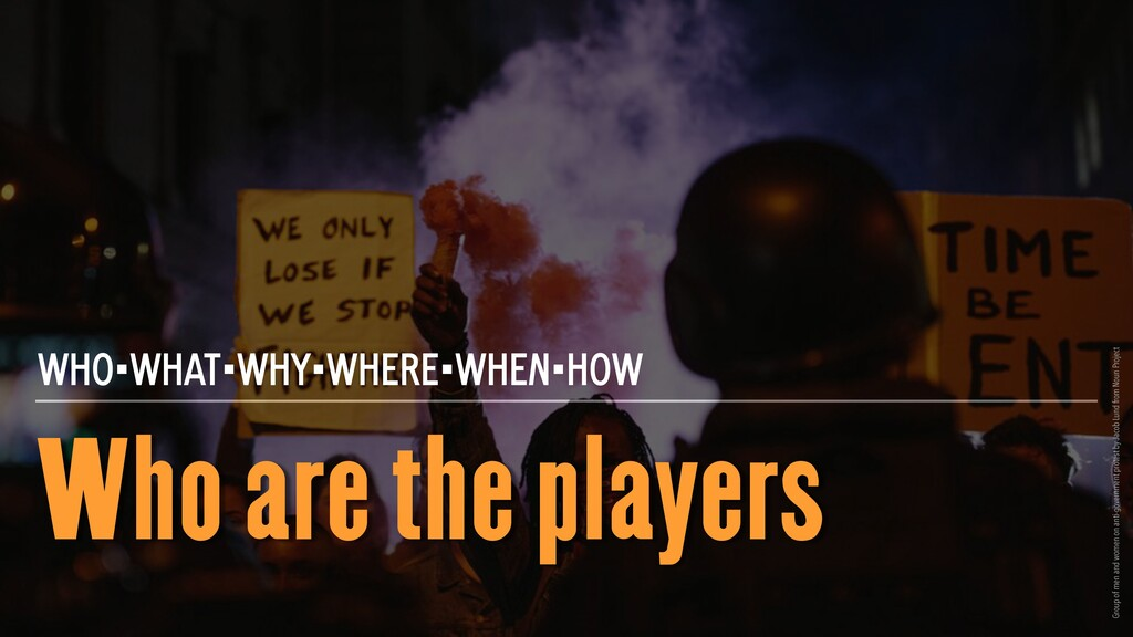 Who are the players WHO•WHAT•WHY•WHERE•WHEN•HOW...