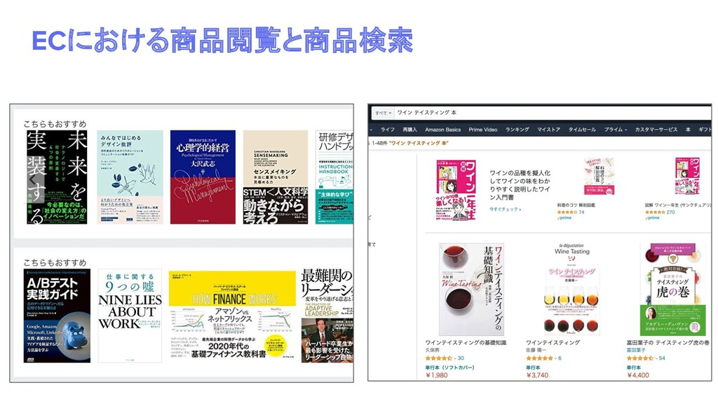 ECにおける商品閲覧と商品検索