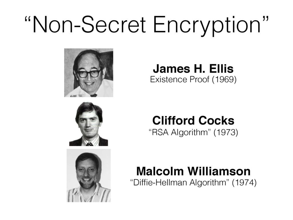 """Non-Secret Encryption"" James H. Ellis Existenc..."