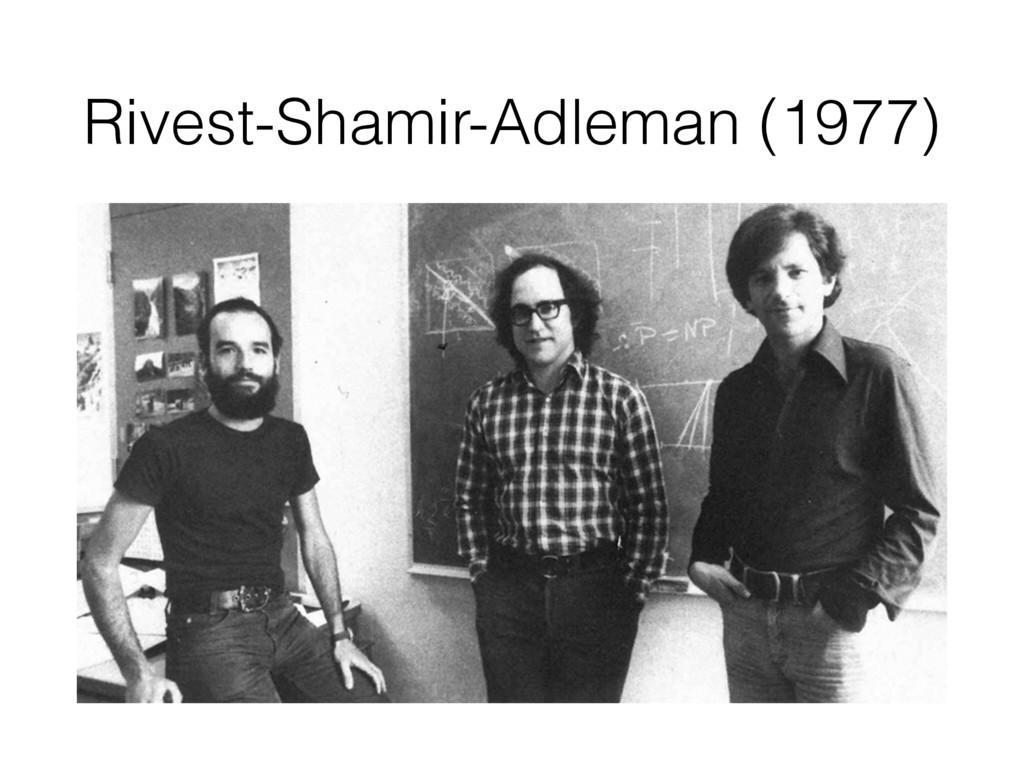 Rivest-Shamir-Adleman (1977)