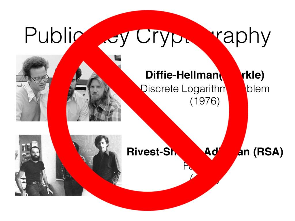 Public-Key Cryptography Diffie-Hellman(-Merkle) ...