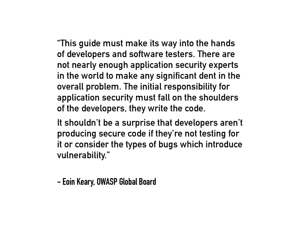 """""""This guide must make its way into the hands of..."""