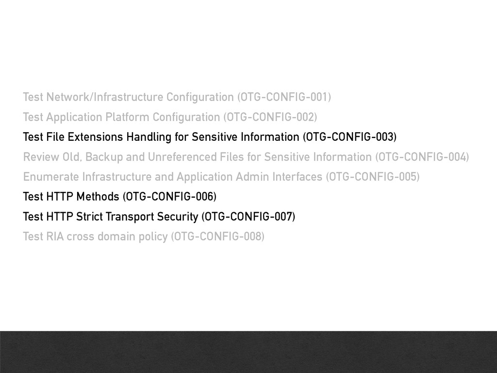 Test Network/Infrastructure Configuration (OTG-...