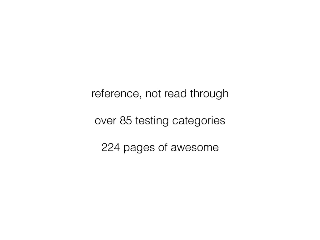 reference, not read through over 85 testing cat...