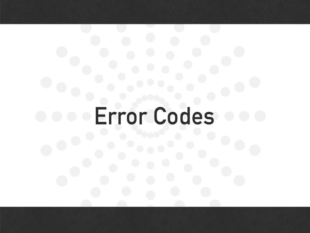 Error Codes