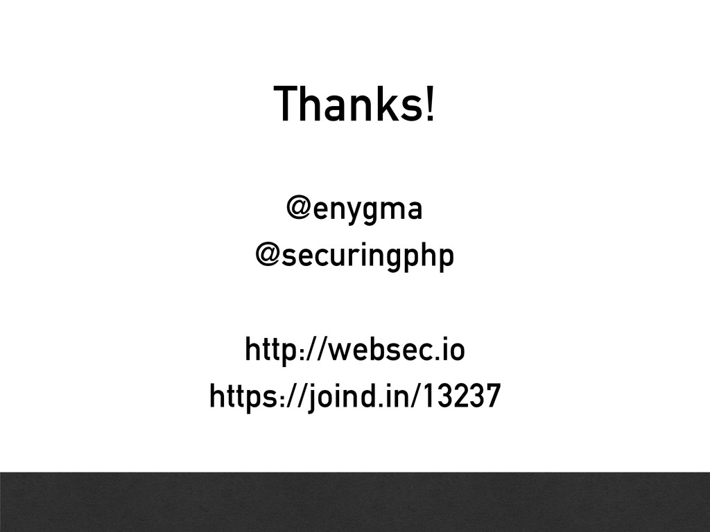 Thanks! @enygma @securingphp http://websec.io h...