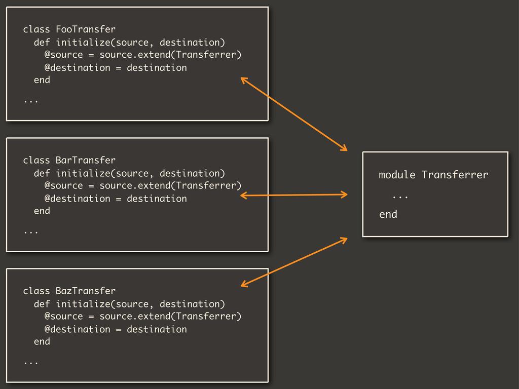 class FooTransfer def initialize(source, destin...