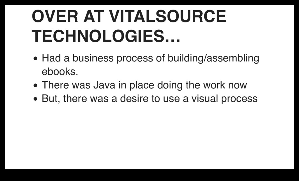 OVER AT VITALSOURCE TECHNOLOGIES… Had a busines...