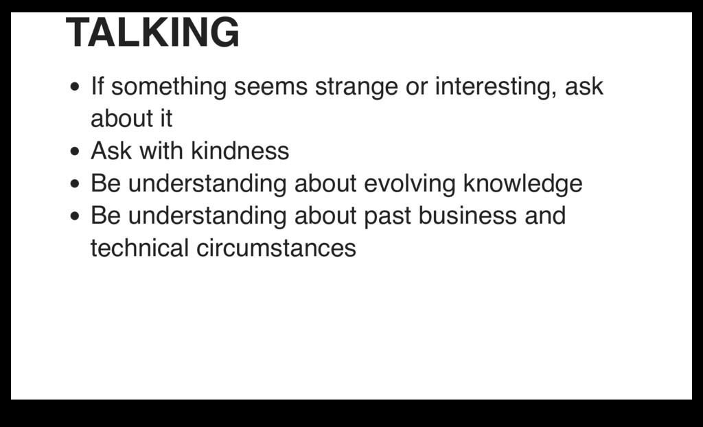 TALKING If something seems strange or interesti...