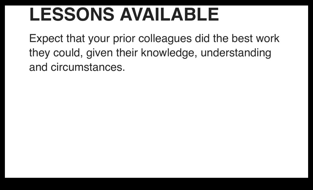 LESSONS AVAILABLE Expect that your prior collea...