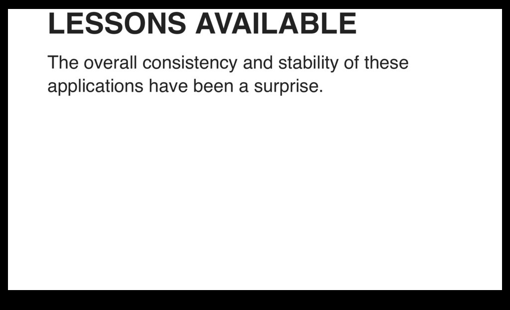 LESSONS AVAILABLE The overall consistency and s...