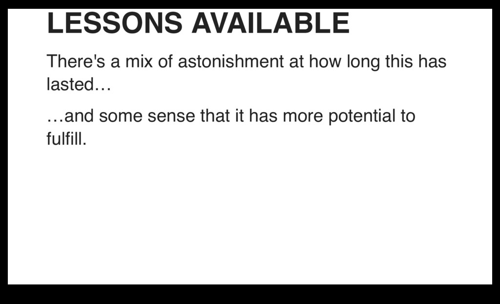 LESSONS AVAILABLE There's a mix of astonishment...