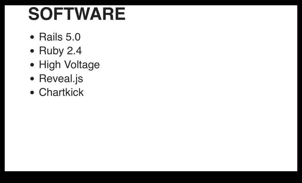 SOFTWARE Rails 5.0 Ruby 2.4 High Voltage Reveal...
