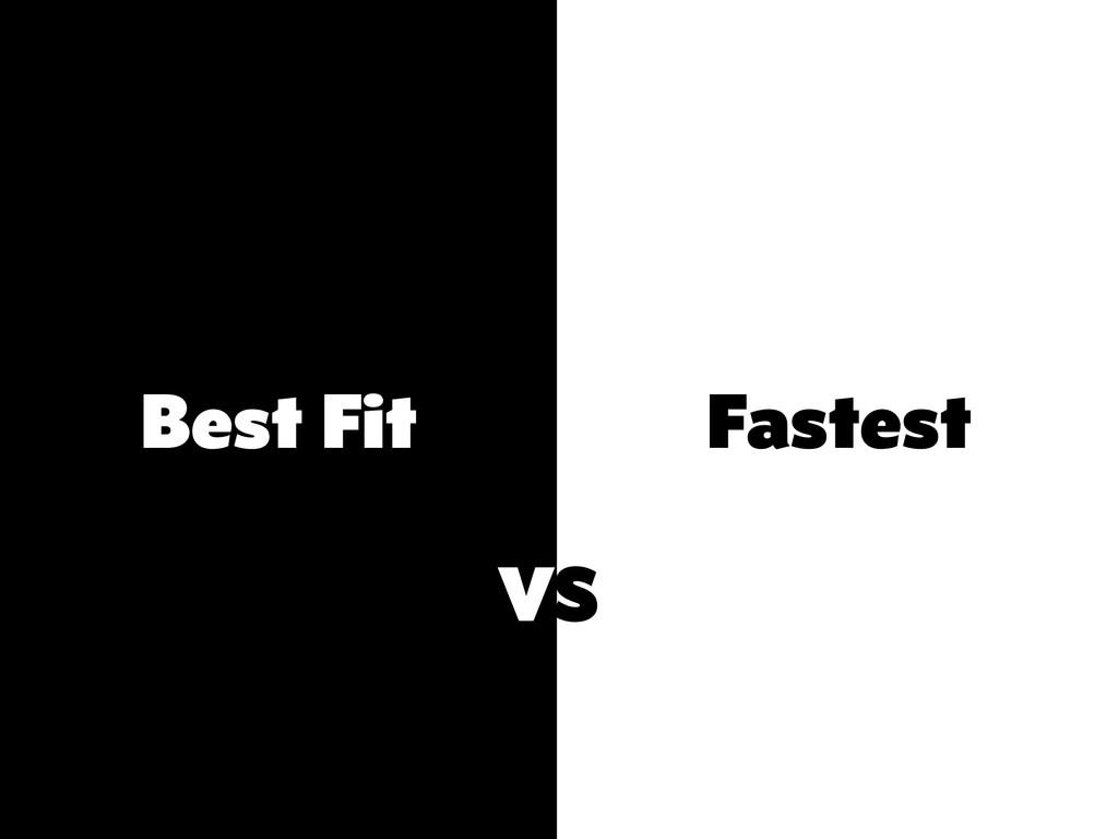 Best Fit Fastest VS
