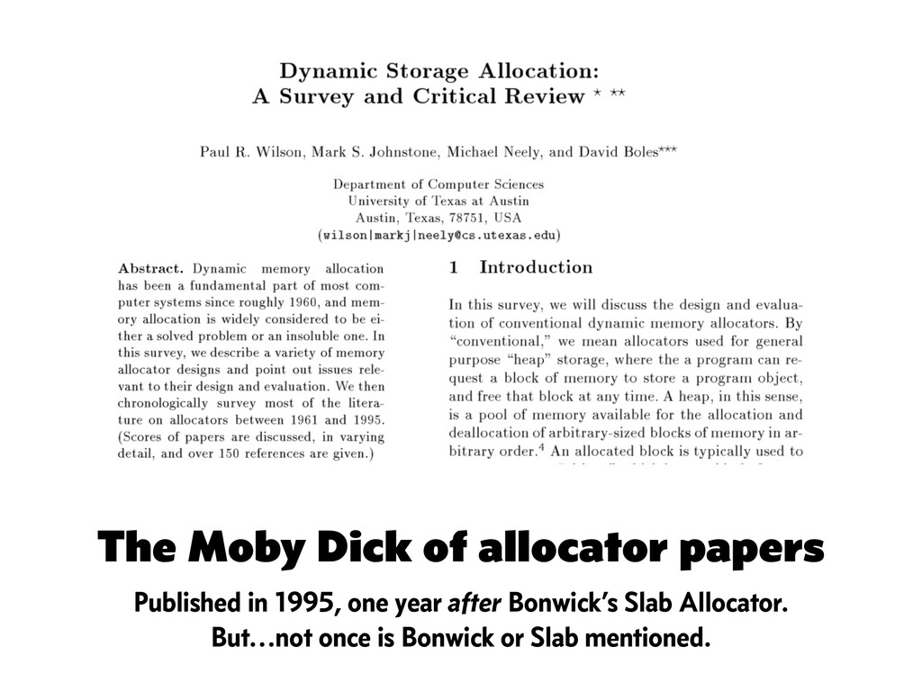 The Moby Dick of allocator papers Published in ...