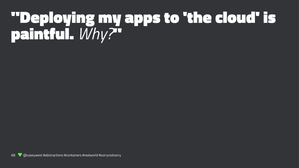 """""""Deploying my apps to 'the cloud' is paintful. ..."""