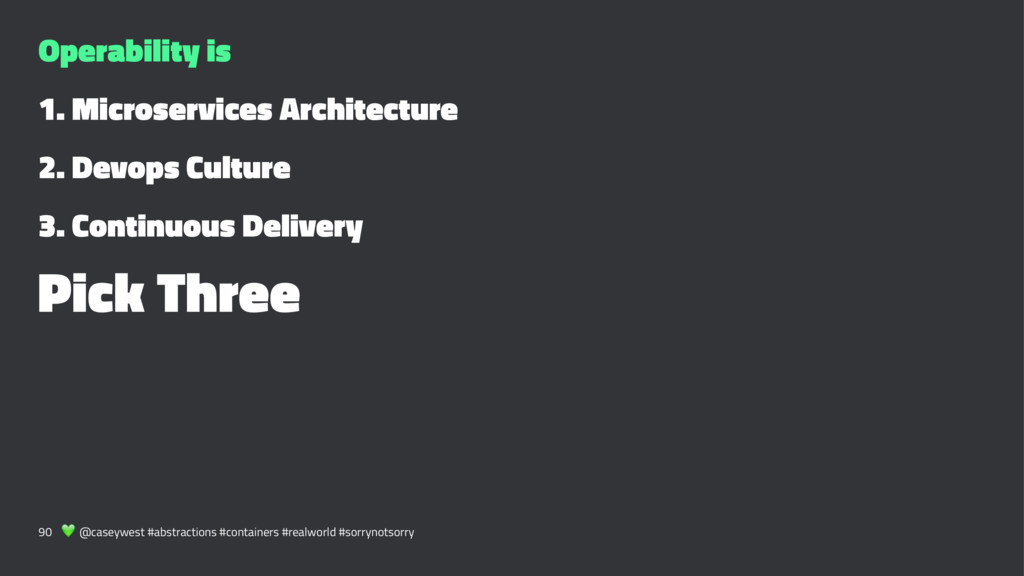 Operability is 1. Microservices Architecture 2....