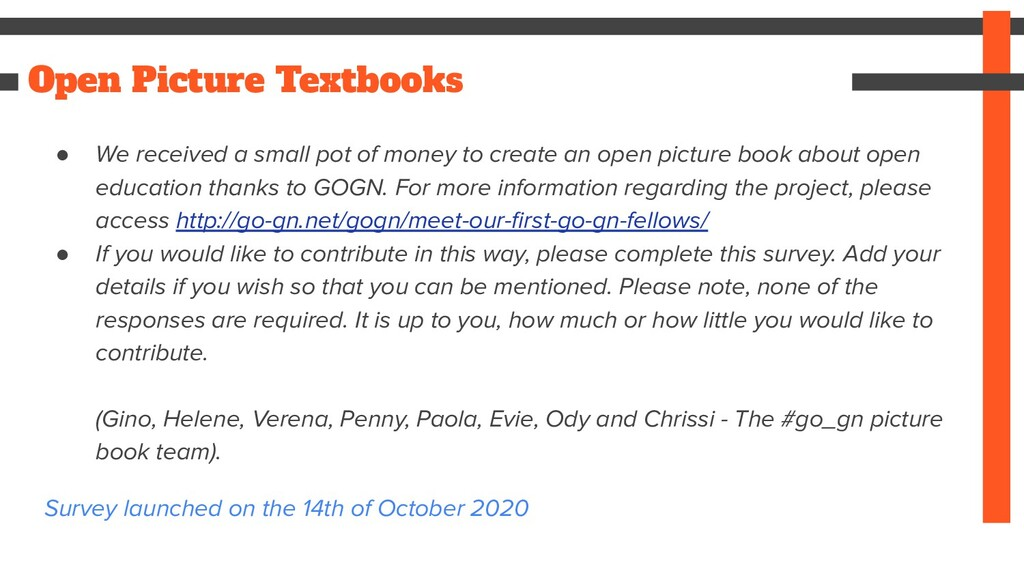 Open Picture Textbooks ● We received a small po...