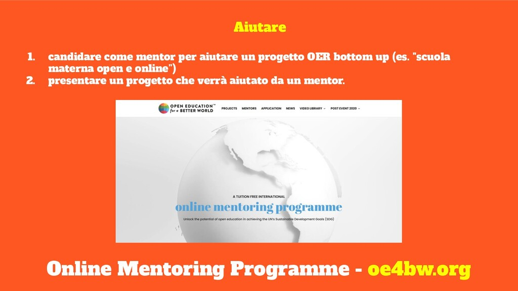 Online Mentoring Programme - oe4bw.org Aiutare ...