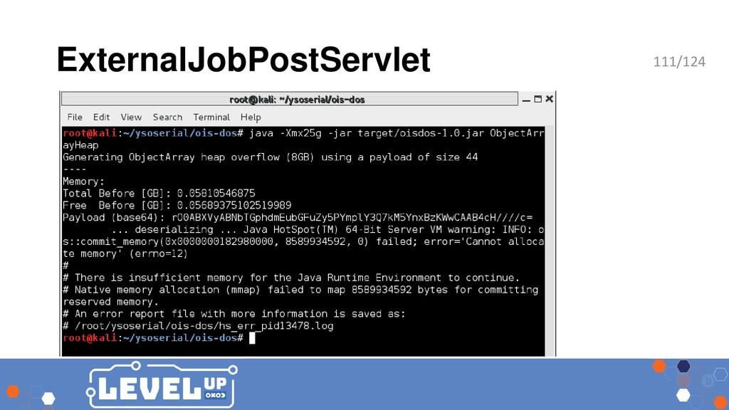 ExternalJobPostServlet 111/124
