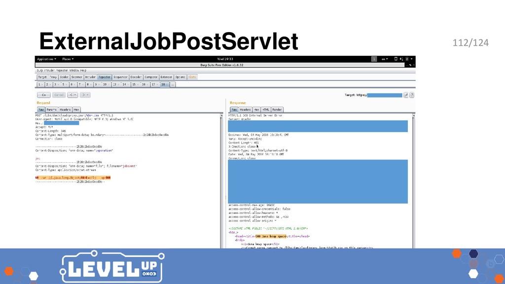 ExternalJobPostServlet 112/124