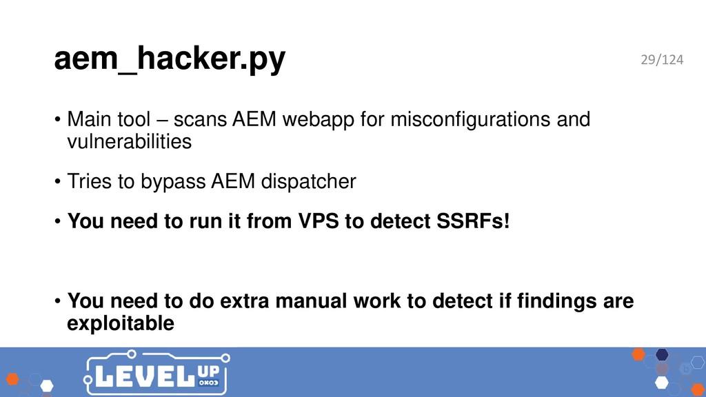 aem_hacker.py • Main tool – scans AEM webapp fo...