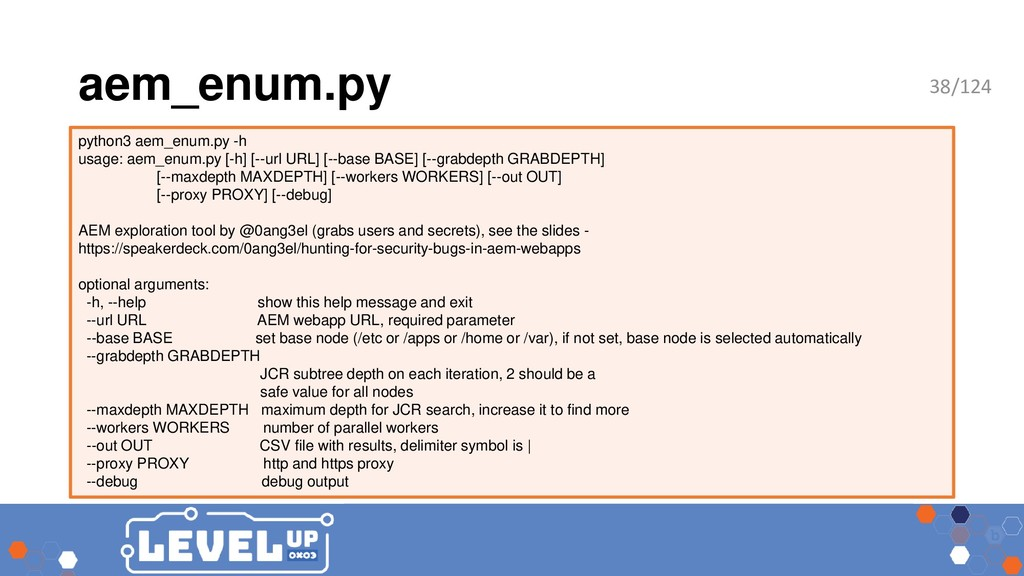 aem_enum.py python3 aem_enum.py -h usage: aem_e...