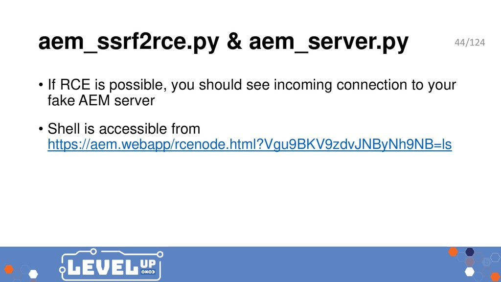 aem_ssrf2rce.py & aem_server.py • If RCE is pos...