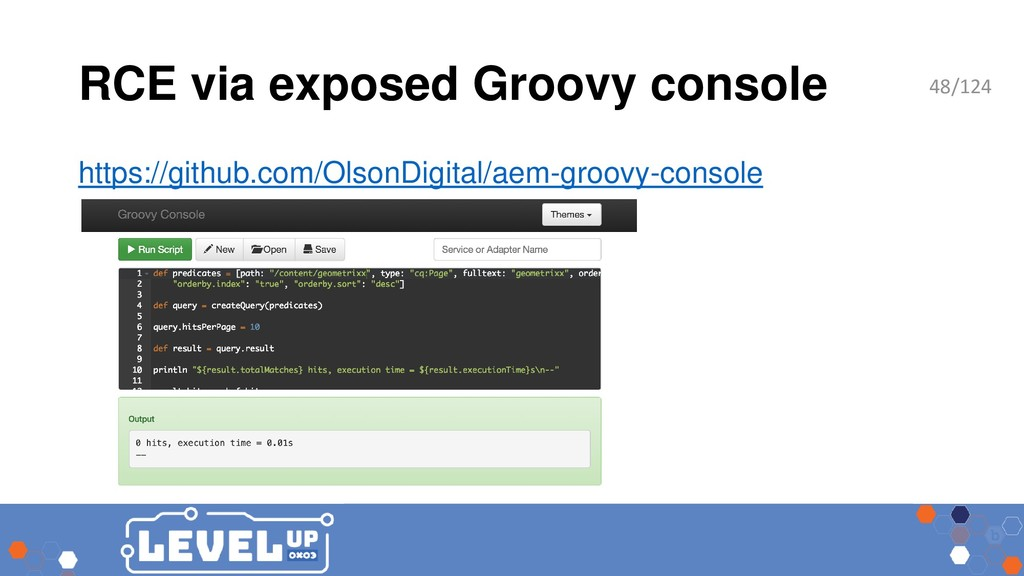 RCE via exposed Groovy console https://github.c...