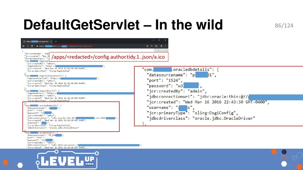 DefaultGetServlet – In the wild /apps/<redacted...