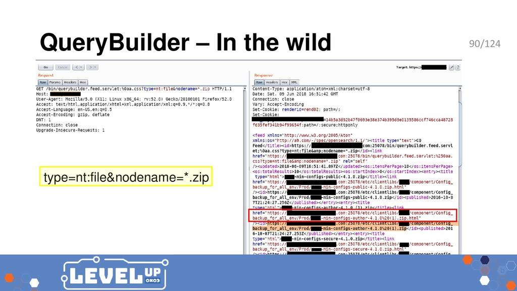 QueryBuilder – In the wild type=nt:file&nodenam...