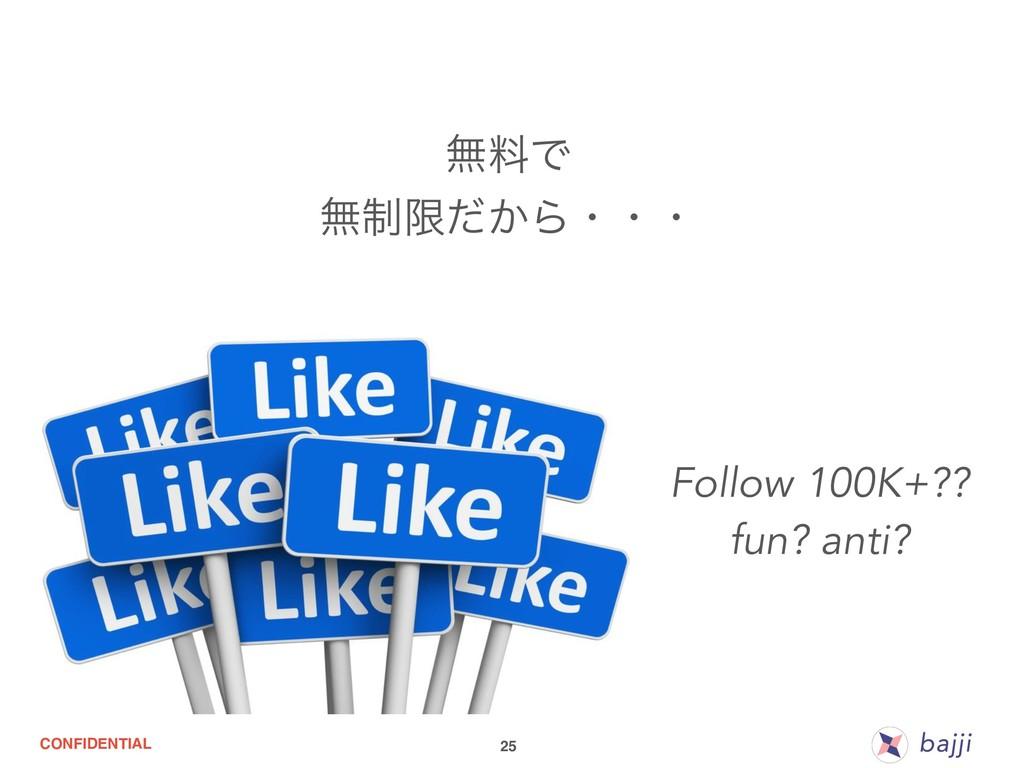 CONFIDENTIAL 25 ແྉͰ ແ੍ݶ͔ͩΒɾɾɾ Follow 100K+?? fu...
