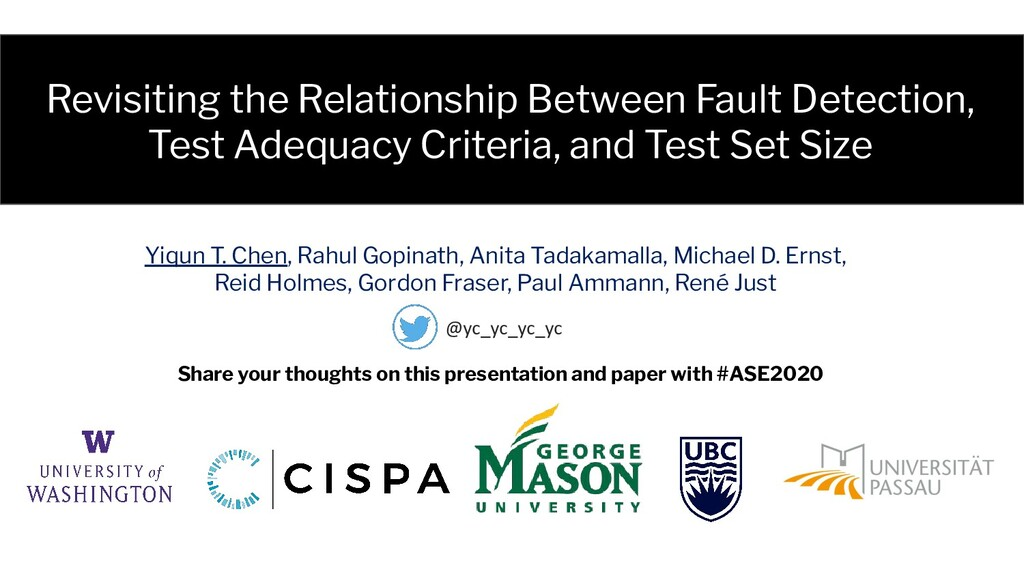 Revisiting the Relationship Between Fault Detec...