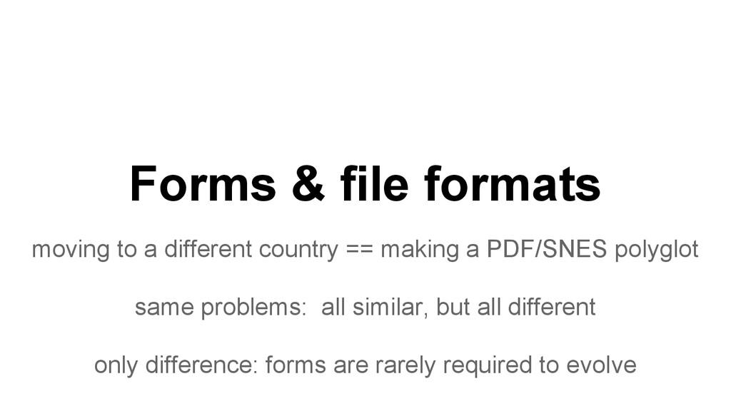 Forms & file formats moving to a different coun...