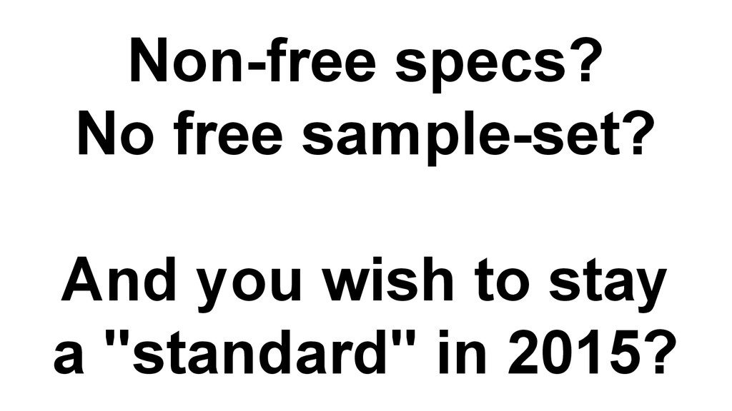 Non-free specs? No free sample-set? And you wis...