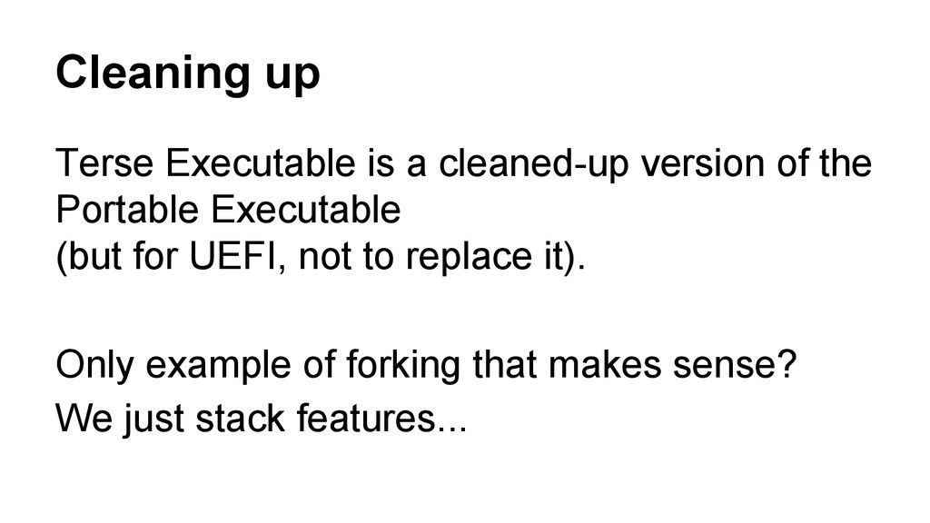 Cleaning up Terse Executable is a cleaned-up ve...