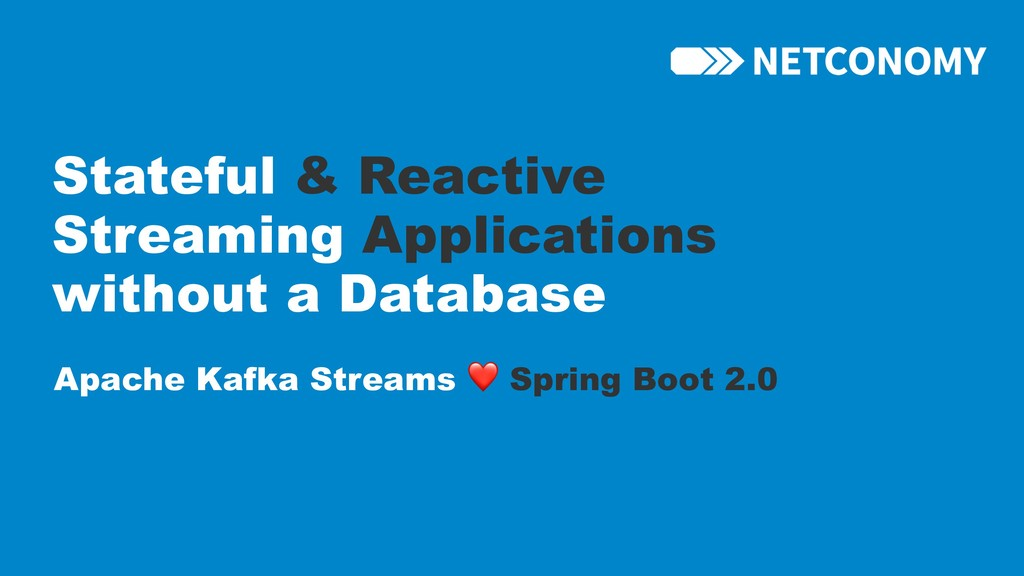 Stateful & Reactive Streaming Applications with...