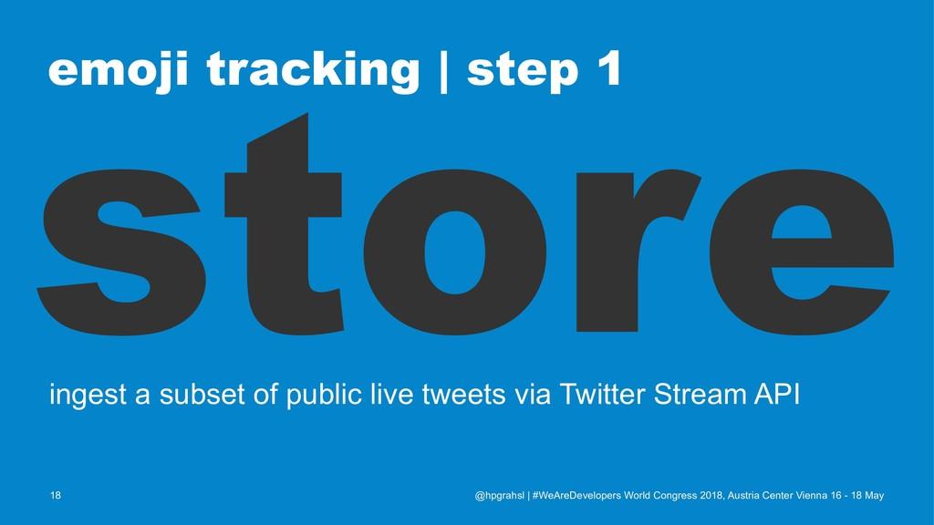 emoji tracking   step 1 store ingest a subset o...